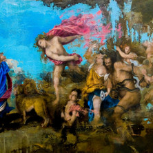 Reinterpretation of Titian's Bacchus & Ariadne