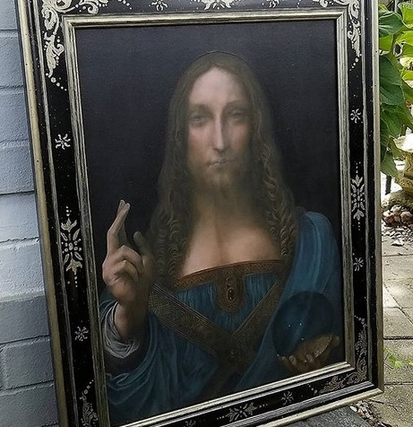 Replica of DaVinci's Salvator Mundi