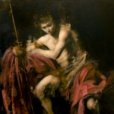 Reinterpretation of Caravaggio's St. John the Baptist