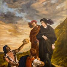 Replica of Delacroix's Hamlet & Horatio in the Graveyard