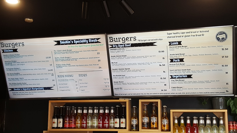 Smokin' Grill and Burgery Menu