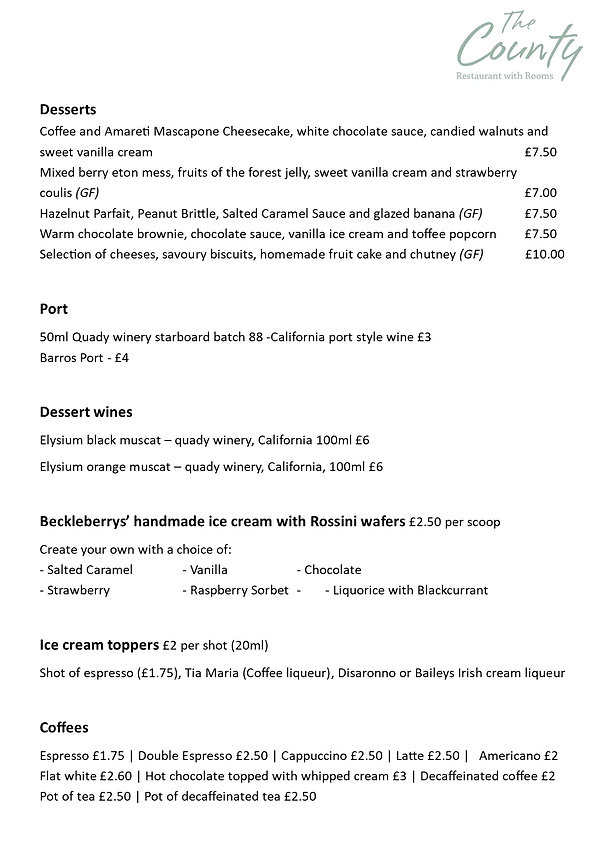 New Menu - July 2020 - Facebook & Websit