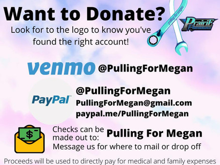 Pulling For Megan Raffle Ticket NOW Available