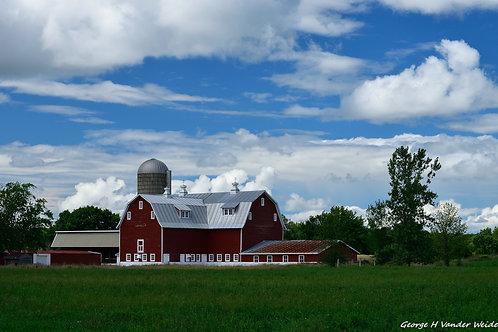 Poor Farm Barn 2 Wrapped Canvas