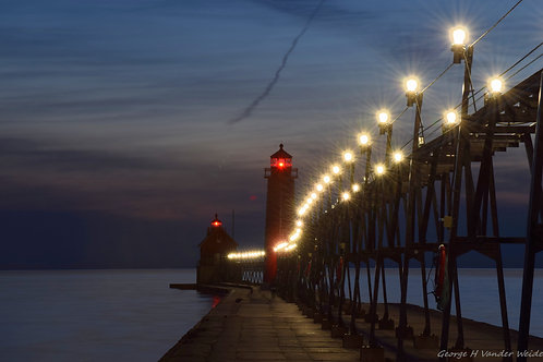 Twilight Pier Fine Art Print
