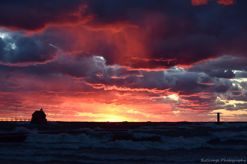 Sunset on a Stormy Day