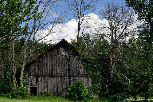 Wood Barn Wrapped Canvas