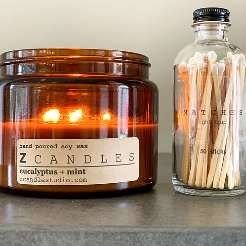 16 oz. candle + 50 sticks