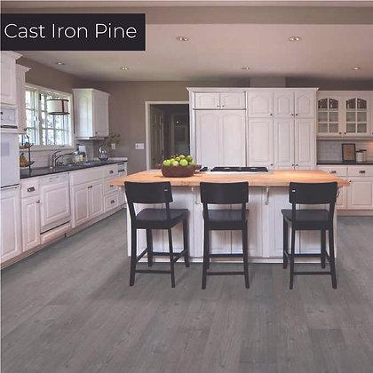 Cast Iron Pine Laminate Flooring, Sample