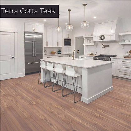 Terra Cotta Teak Laminate Flooring, Sample