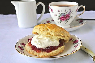 Cream tea at Longworth Hall Hereford Lugwardine