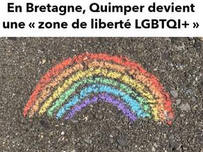 """QUIMPER -Première ville à se déclarer """"Zone de Liberté LGBTQI+"""""""