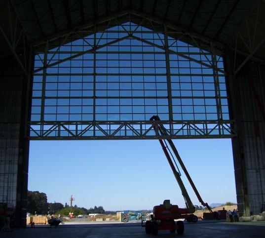 Davis Door Vertical Lift - Aircraft Hanger