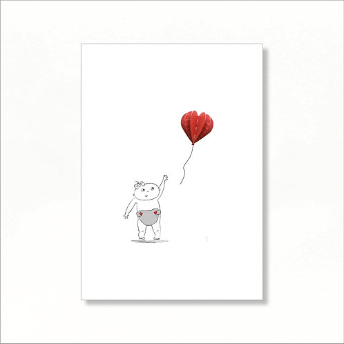 A4 Print - Lilly Loses Her Balloon