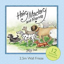 Hairy Maclary and Friends: Wall Frieze: Lynley Dodd. Designed by Jenny Haslimeier