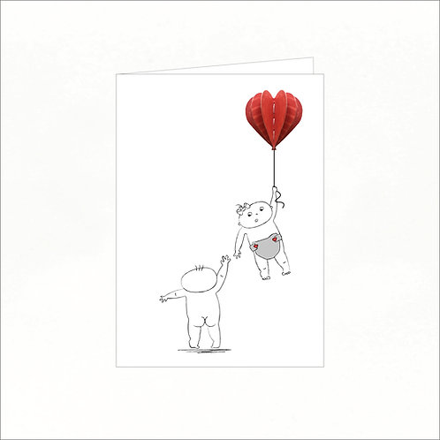 Greeting Card - Lilly Learns to Fly