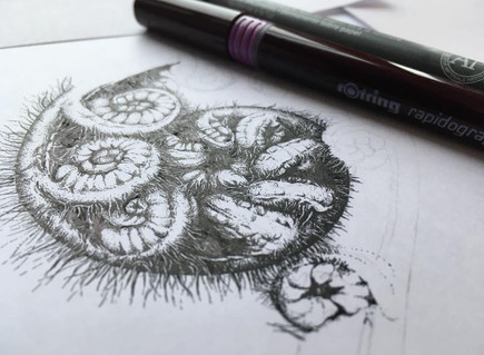 Starting a new project – Stippling with pen and ink