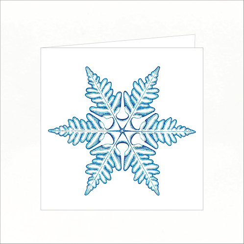 Greeting Card - Snowflake 01