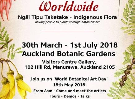 The Botanical Art Worldwide exhibition is opening very soon!