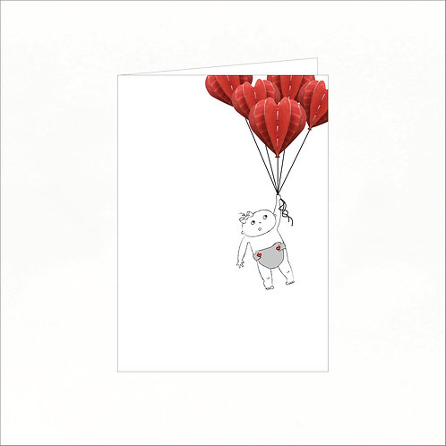 Greeting Card - Lilly Floats Away
