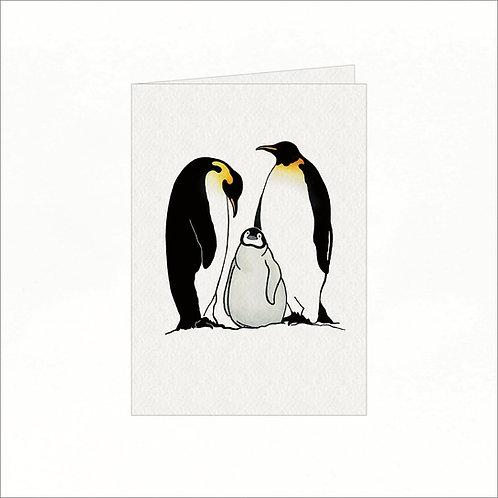 Greeting Card - Penguin Family