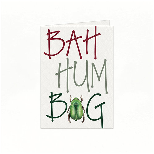 Greeting Card - Xmas Bah Hum Bug