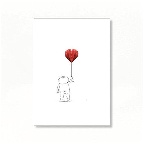 A4 Print - Livio Holding a Balloon