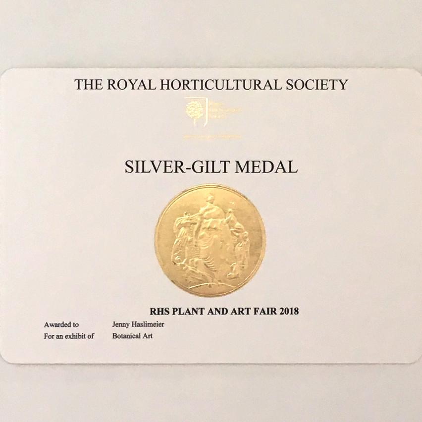 My Silver-Gilt award!