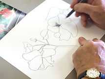 Workshop, pen and ink techniques, work examples