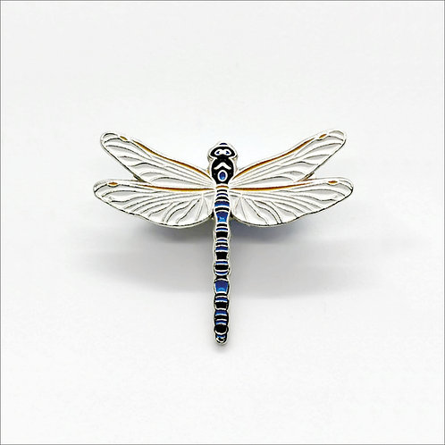 Soft Enamel Pin Badge - Azure Hawker Dragonfly