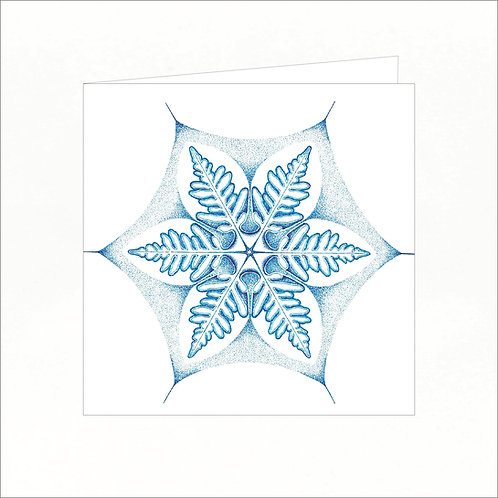 Greeting Card - Snowflake 02
