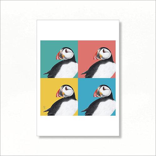 A4 Print - Four Puffins