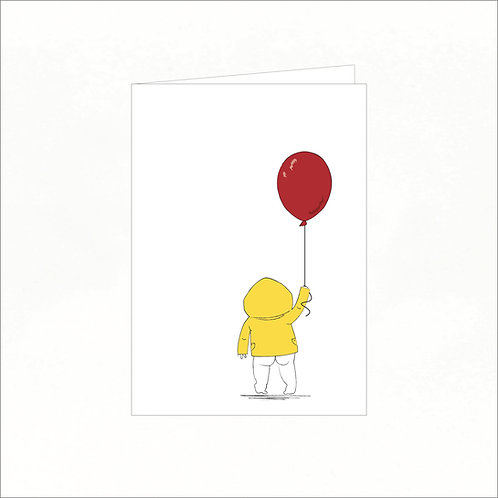 Greeting Card - Livio Wearing His Yellow Jacket