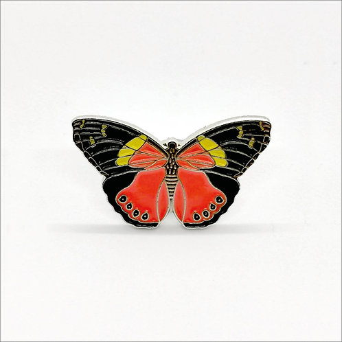 Soft Enamel Pin Badge - Yellow Admiral Butterfly