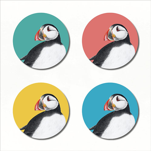 Coaster Box Set of 4 - Atlantic Puffin