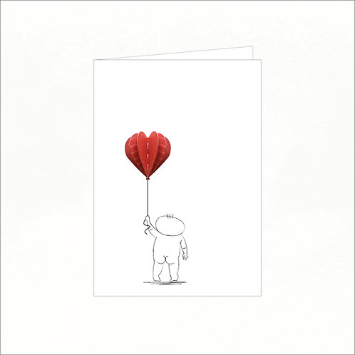 Greeting Card - Livio Holding a Balloon