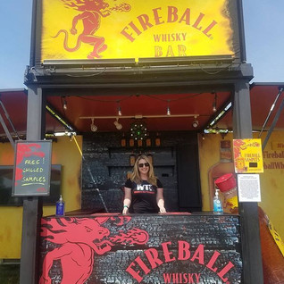 Had a blast working Northern Invasion this weekend! Got to play bartender _)_--_--_--_#promogirl #promo #promolife #letsgopromo #fireball #i