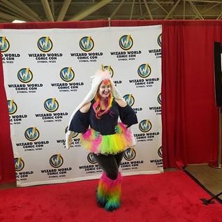 Unicorn!!!!_--_--_--_#wizardworld #comicon #unicorn #rainbow #sparkles #minneapolis #redcarpet #redcarpetready