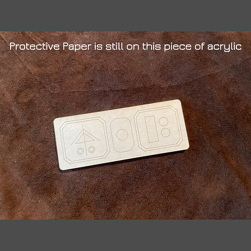 """Acrylic Laser Cut Small Insert """"D"""" - for Panel Designs #2 & #4"""