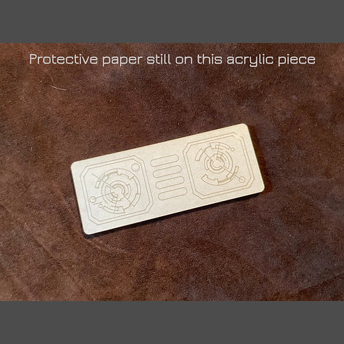 """Acrylic Laser Cut Small Insert """"C"""" - for Panel Designs #2 & #4"""