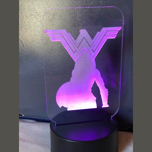 LED Geek NightLight - Wonder Woman