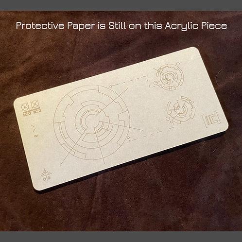 "Acrylic Laser Cut Insert ""B"" - for Panel Design #1"