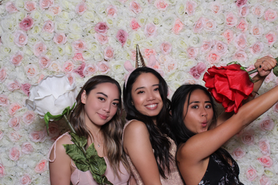 floral wall orange county photo booth