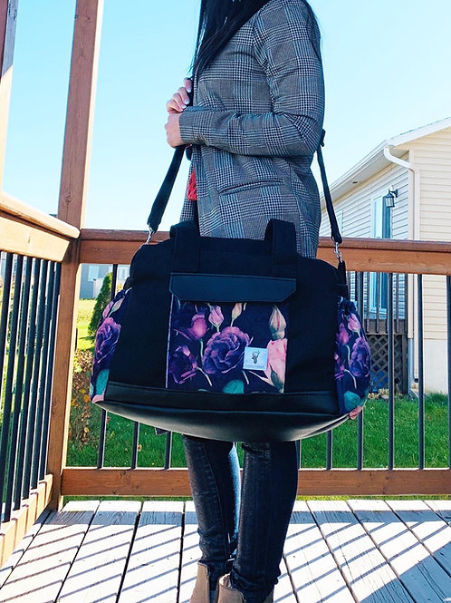 Sac à couches / bandoulière | Shoulder strap / Diaper bag | floral mauve