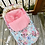 Thumbnail:  Hiver | winter slipcover |  floral turquoise minky rose