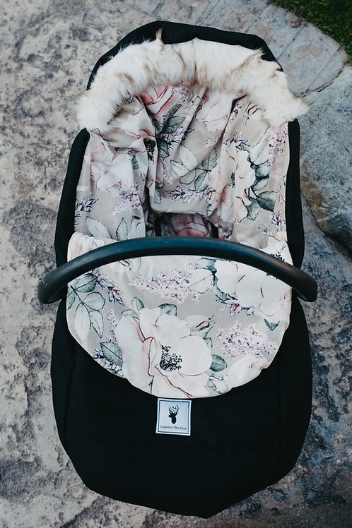 Hiver   winter slipcover   floral beige