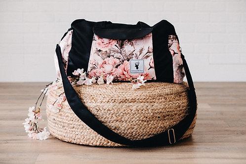 Sac à couches / bandoulière/ floral vintage rose