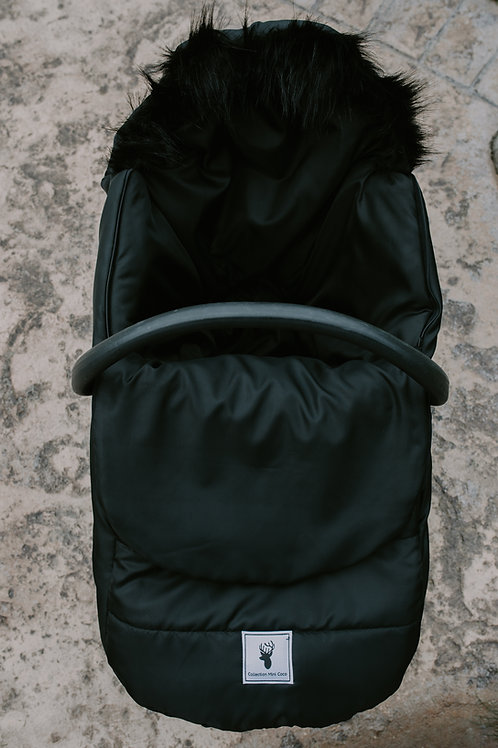 Hiver | winter slipcover |classy fourrure noir
