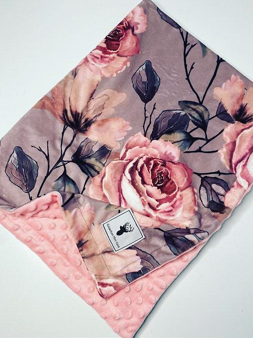 Accessoires | doudou floral  rose sur fond mauve