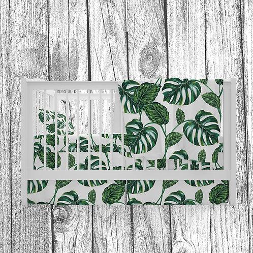 Literie | Bedding | feuilles tropicales